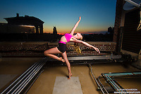New York City Rooftop Dance As Art Photography Project- featuring dancer, Jocelyn Farabaugh