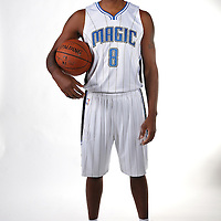 Orlando Magic forward Channing Frye poses for the camera during the NBA Orlando Magic media day event at the Amway Center on Monday, September 29, 2014 in Orlando, Florida. (AP Photo/Alex Menendez)