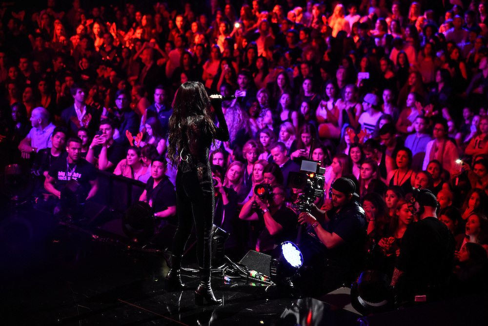 Photos of Selena Gomez performing live at iHeartRadio Jingle Ball 2015, hosted by Z100 New York at Madison Square Garden, NYC on December 11, 2015. © Matthew Eisman/ iHeartRadio. All Rights Reserved