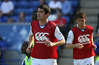 Photo: Pete Lorence.<br />Leicester City v Portsmouth. Pre Season Friendly. 04/08/2007.<br />Richard Hughes and Martin Cranie warm up during the match.