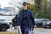 AFC Wimbledon attacker Marcus Forss (15) arriving for the game during the EFL Sky Bet League 1 match between AFC Wimbledon and Gillingham at the Cherry Red Records Stadium, Kingston, England on 23 November 2019.