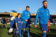 mascot during the EFL Sky Bet League 1 match between AFC Wimbledon and Shrewsbury Town at the Cherry Red Records Stadium, Kingston, England on 3 November 2018.