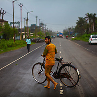 For thousands of workers in the 400-km-long Golden Corridor, a string of vast industrial estates in the western Gujarat state, their jobs are a daily courting of death. Men covered with yellow and bluish dust, their hands and faces permanently discoloured, from the toxic chemical dyes scrub themselves in vain at the end of a shift. The Industry in this area is a major contributor to ground water contamination.