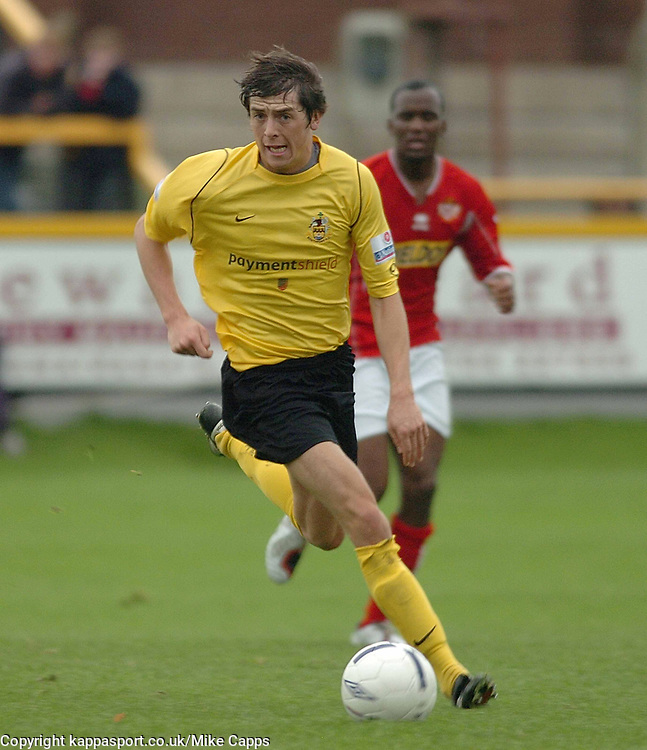 POWELL SOUTHPORT FC, Southport v Kettering Town Conference Saturday 28th October 2006