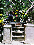 The grave of Vo Thi Sau a famous young female freedom fighter. Vo Thi Sau was arrested when she was 16 years old, withstood terrible torture and was shot dead when she was 19 years old by the French.