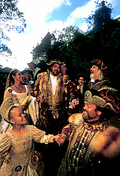 Stock photo of a group dressed as royalty at the Texas Renaissance Festival in Plantersville Texas