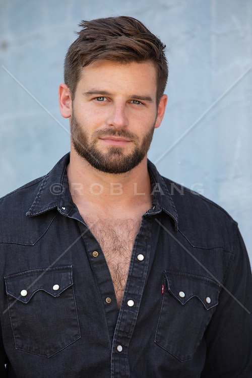 portrait of a handsome man with blue eyes and brown hair