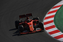 February 19, 2019 - Barcelona, Spain - The German driver, Sebastian Vettel, of Scuderia Ferrari Mission Winnow testing, the new car for F1 2019 Championship during the first day of Formula One Test at Catalonia Circuit, on February 18, 2019 in Barcelona, Spain. (Credit Image: © Joan Cros/NurPhoto via ZUMA Press)