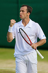 LONDON, ENGLAND - Saturday, June 28, 2008: Radek Stepanek (CZE) during his third round match on day six of the Wimbledon Lawn Tennis Championships at the All England Lawn Tennis and Croquet Club. (Photo by David Rawcliffe/Propaganda)