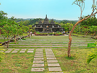 Beautiful buddhist temple in northern Bali situated in lush, green countryside, indonesia.