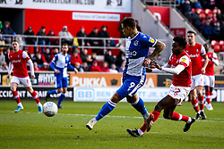 Jonson Clarke-Harris of Bristol Rovers shoots at goal - Mandatory by-line: Robbie Stephenson/JMP - 18/01/2020 - FOOTBALL - Aesseal New York Stadium - Rotherham, England - Rotherham United v Bristol Rovers - Sky Bet League One
