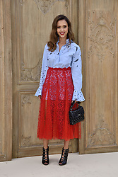 Jessica Alba attending at the Valentino show as a part of Paris Fashion Week Ready to Wear Spring/Summer 2017 on October 02, 2016 in Paris, France. Photo by Alban Wyters/ABACAPRESS.COM