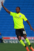 Gaetan Bong during the Pre-Season Friendly match between Brighton and Hove Albion and Sevilla at the American Express Community Stadium, Brighton and Hove, England on 2 August 2015. Photo by Bennett Dean.