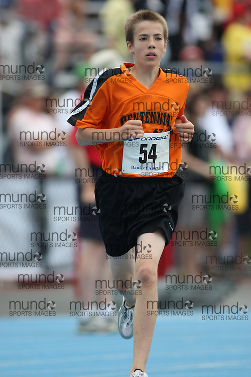 (Ottawa, Ontario---20/06/09)   Declan Colwell competing in the 1500m at the 2009 Bank of America All-Champions Elementary School Track and Field Championship. www.mundosportimages.com / www.msievents.