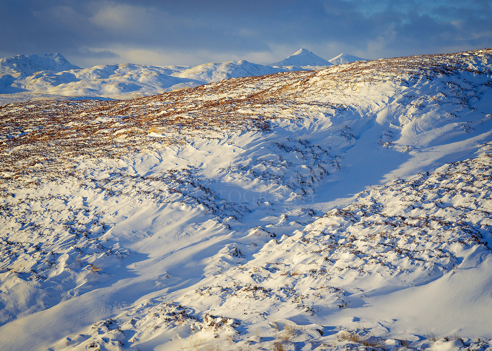 'Snowdrifts' <br /> Strath Gartney, Trossachs, Scotland.<br /> (Stob Binnein &amp; Ben More in the background)