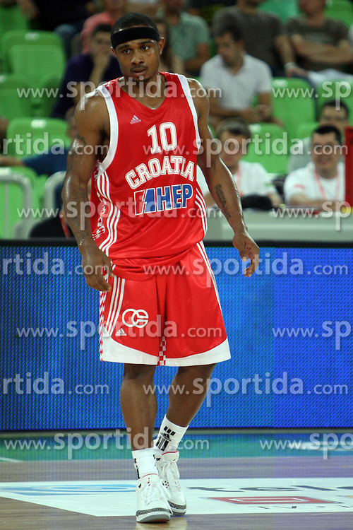 Dominic Draper of Croatia at friendly match between Croatia and Montenegro for Adecco Cup 2011 as part of exhibition games before European Championship Lithuania on August 6, 2011, in SRC Stozice, Ljubljana, Slovenia. (Photo by Urban Urbanc / Sportida)