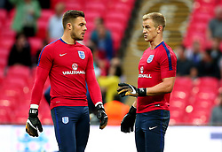 Joe Hart of England speaks with Jack Butland of England - Mandatory by-line: Robbie Stephenson/JMP - 04/09/2017 - FOOTBALL - Wembley Stadium - London, United Kingdom - England v Slovakia - 2018 FIFA World Cup Qualifier