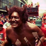 VENEZUELAN POLITICS / POLITICA EN VENEZUELA<br /> The Devil, Chavez supporters march, Caracas - Venezuela 2008 / El Diablo, Marcha de simpatizantes de Chavez, Caracas - Venezuela 2008<br /> (Copyright © Aaron Sosa)