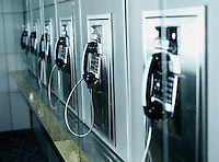 Row of pay phones at an airport&#xA;<br />