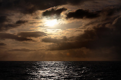 ATLANTIC OCEAN ABOARD ARCTIC SUNRISE 21MAY11 - Sunset and a rain front in the North Atlantic.....Photo by Jiri Rezac / Greenpeace