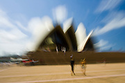 Tourists at Sydney Opera House,  New South Wales, Australia