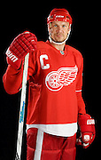 Detroit, MI -- Detroit Red Wings Captain Nicklas Lidstrom portrait photo shoot for the Sporting News magazine's Athletes of the Decade feature story.