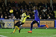 Tom Elliott of AFC Wimbledon during the Sky Bet League 2 match between AFC Wimbledon and Dagenham and Redbridge at the Cherry Red Records Stadium, Kingston, England on 24 November 2015. Photo by Stuart Butcher.