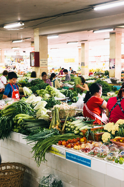 Siriwattana fresh market, Chiang Mai