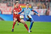 v.l. Xabi Alonso (Bayern), Sebastian Rudy<br />  31.01.2016, Fussball Bundesliga, FC Bayern München - TSG 1899 Hoffenheim<br /> Norway only