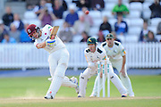 Ryan Davies of Somerset hits a six during the Specsavers County Champ Div 1 match between Somerset County Cricket Club and Nottinghamshire County Cricket Club at the Cooper Associates County Ground, Taunton, United Kingdom on 22 September 2016. Photo by Graham Hunt.