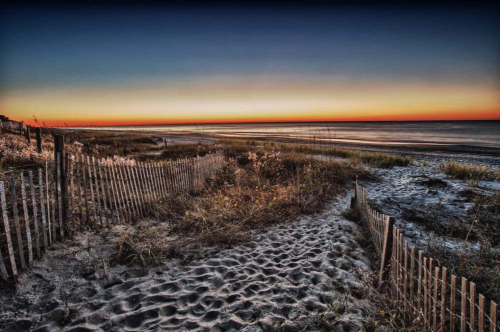 Sunrise & Footprints