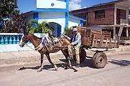 Horse and cart in Velasco, Holguin Province, Cuba.