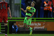 Forest Green Rovers Christian Doidge(9) controls the ball during the EFL Sky Bet League 2 match between Forest Green Rovers and Grimsby Town FC at the New Lawn, Forest Green, United Kingdom on 22 January 2019.