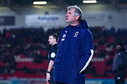 Glyn Hodges of AFC Wimbledon (Manager) during the The FA Cup match between Doncaster Rovers and AFC Wimbledon at the Keepmoat Stadium, Doncaster, England on 19 November 2019.