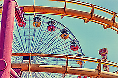 Santa Monica Pier and Amusement Park | HDR Style