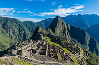Machu Picchu, Incas ruins in the peruvian Andes at Cuzco Peru
