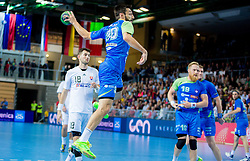 Dragan Gajic of Slovenia during handball match between National Teams of Slovenia and Slovakia in Qualification 2 of 2016 Men's European Championship, on October 29, 2014 in Arena Bonifika, Koper, Slovenia. Photo by Vid Ponikvar / Sportida