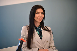 October 9, 2018 - Kyiv, Ukraine - Deputy Minister of Internal Affairs of Ukraine Tetiana Kovalchuk attends the Ministry of Interior Gender Policy: Equal Opportunities for Everyone Forum in Kyiv, capital of Ukraine, October 9, 2018. The event was organised by the OSCE Project Co-ordinator in Ukraine in cooperation with the Ministry of Internal Affairs of Ukraine. Ukrinform. (Credit Image: © Sergiy Anishchenko/Ukrinform via ZUMA Wire)