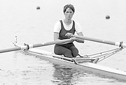 Nottingham. United Kingdom. <br /> GBR W1X, Carrie Anne WOODS.<br /> Nottingham International Regatta, National Water Sport Centre, Holme Pierrepont. England<br /> <br /> 31.05.1986 to 01.06.1986<br /> <br /> [Mandatory Credit: Peter SPURRIER/Intersport images] 1986 Nottingham International Regatta, Nottingham. UK
