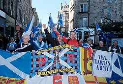 All Under One Banner Independence March, Edinburgh, Saturday 6th October 2018<br /> <br /> Pictured: Marchers shout for Scotland to be independent<br /> <br /> Alex Todd | Edinburgh Elite media