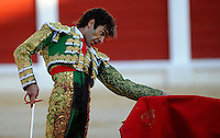 12 August 2011, Gijon, Spain --- Matador Jose Tomas performs during a bullfight in Gijon, northern Spain. Photo by Juan Manuel Serrano Arce