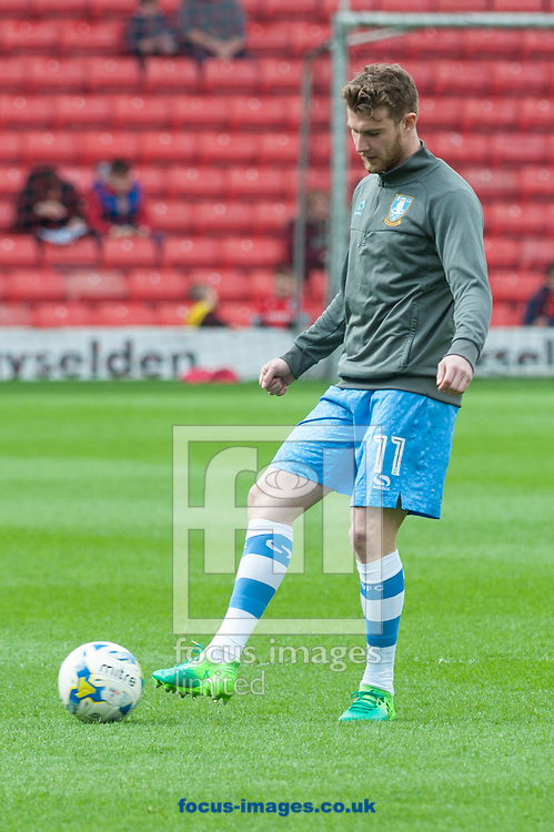 Sam Winnall of Sheffield Wednesday warms up prior to the Sky Bet Championship match at Oakwell, Barnsley<br /> Picture by Matt Wilkinson/Focus Images Ltd 07814 960751<br /> 01/04/2017
