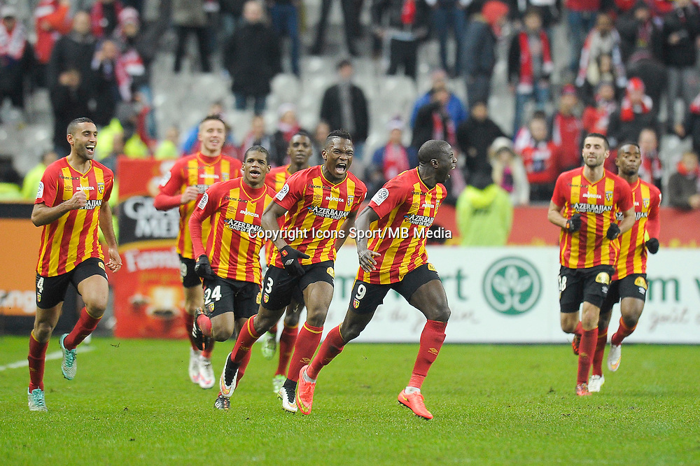 Joie Lens / Adamo Coulibaly - 07.12.2014 - Lens / Lille - 17eme journee de Ligue 1<br />