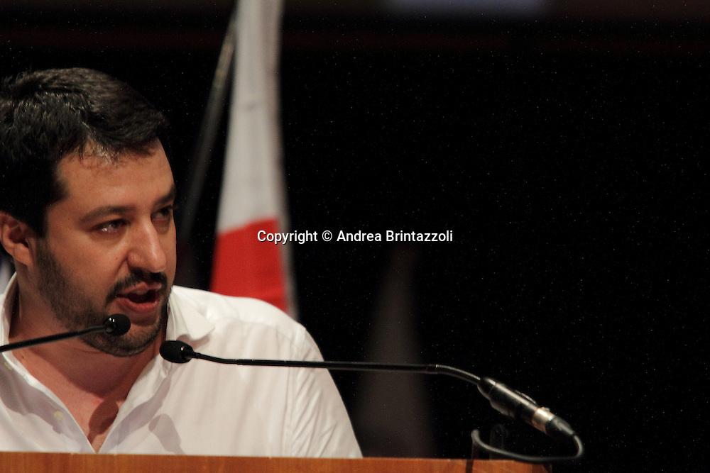 Torino 15 Dicembre 2013. Lingotto Fiere Congresso Federale Lega Nord Padania.<br /> Matteo Salvini Segretario Lega Nord