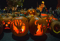 Pumpkin Fest brought thousands of visitors to downtown Laconia throughout the day and evening on Saturday.  (Karen Bobotas/for the Laconia Daily Sun)
