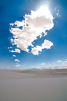 The sun went behind a cloud for a moment in White Sands....