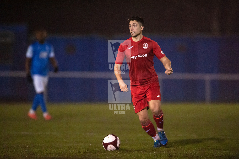 TELFORD COPYRIGHT MIKE SHERIDAN Adam Walker of Telford during the friendly fixture between AFC Telford United and Market Drayton Town at Greenfields on Tuesday, January 21, 2020.<br /> <br /> Picture credit: Mike Sheridan/Ultrapress<br /> <br /> MS201920-041