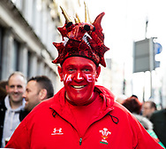 A Wales fand enjoying the pre match atmosphere<br /> <br /> Photographer Simon King/Replay Images<br /> <br /> Six Nations Round 1 - Wales v Italy - Saturday 1st February 2020 - Principality Stadium - Cardiff<br /> <br /> World Copyright © Replay Images . All rights reserved. info@replayimages.co.uk - http://replayimages.co.uk