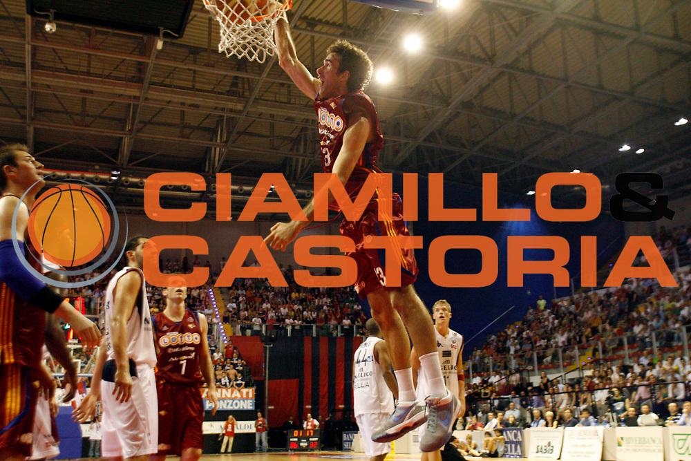 DESCRIZIONE : Biella Lega A 2008-09 Playoff Quarti di finale Gara 4 Angelico Biella Lottomatica Virtus Roma<br /> GIOCATORE : Luigi Datome<br /> SQUADRA : Lottomatica Virtus Roma<br /> EVENTO : Campionato Lega A 2008-2009 <br /> GARA : Angelico Biella Lottomatica Virtus Roma<br /> DATA : 24/05/2009<br /> CATEGORIA : Schiacciata<br /> SPORT : Pallacanestro <br /> AUTORE : Agenzia Ciamillo-Castoria/E.Pozzo