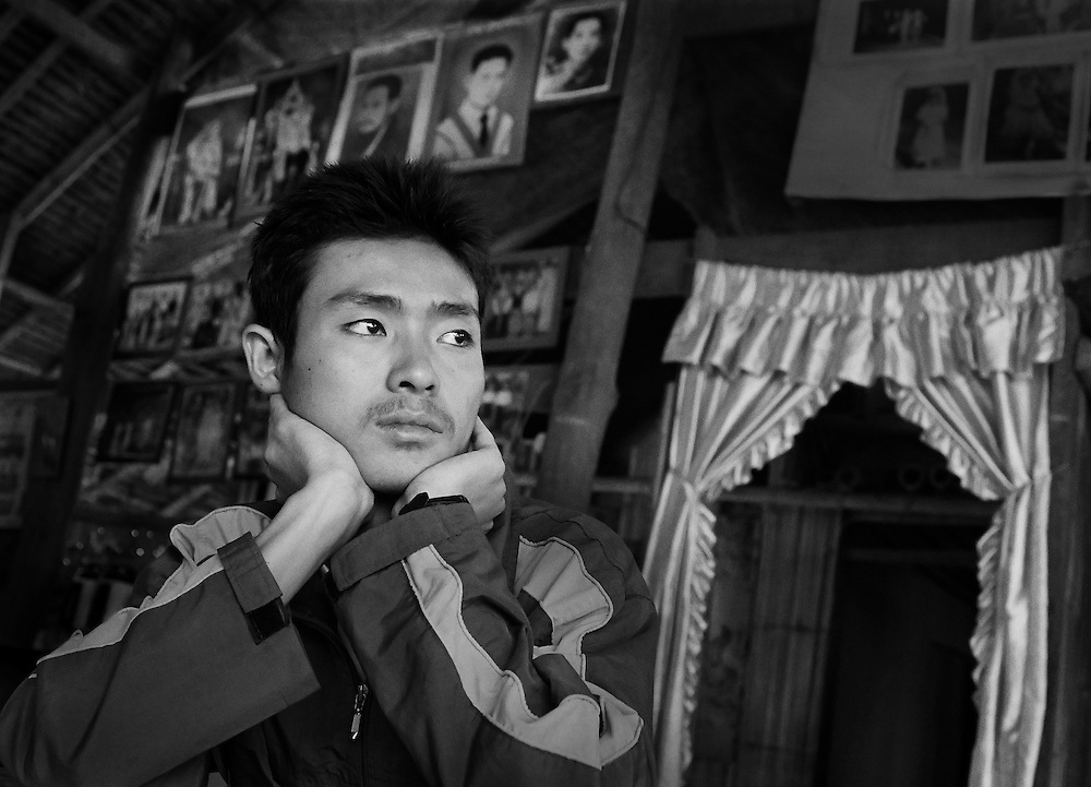 'Blacktown' in the Mae La refugee camp, situated on the Thai/Burma border.  <br /> <br /> In 2002 his family, along with another 1,000 Karen people, were forced out of their homes by the SPDC and made to leave all their possessions.  <br /> <br /> His dream is to study medicine and eventually become a doctor so he can 'serve his people'. <br /> <br /> He left Burma believing that he has a better chance of getting an education as a refugee in Thailand.